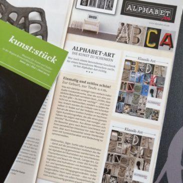 Alphabet-Art im kunst:stück Magazin