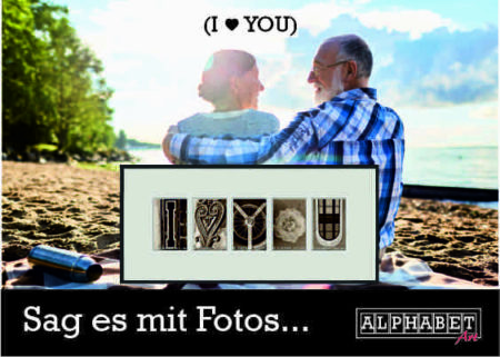 20% zum Valentinstag: Buchstabenkunst von Alphabet-Art